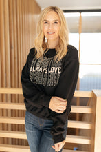Load image into Gallery viewer, Love Pullover Black