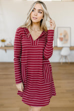 Load image into Gallery viewer, Casual Dress Burgundy