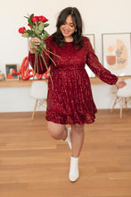Load image into Gallery viewer, Breathtaking Sequin Dress Wine