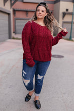 Load image into Gallery viewer, Lori Sweater Cranberry