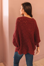 Load image into Gallery viewer, Detailed Sweater Wine