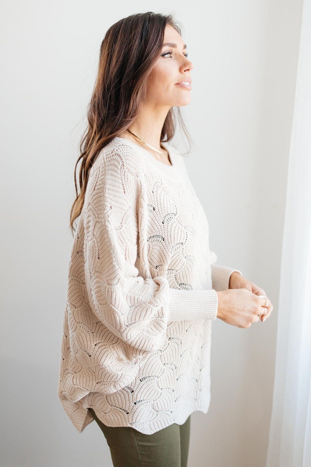 Detailed Sweater Taupe
