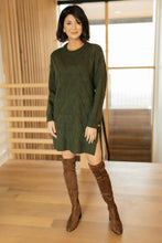 Load image into Gallery viewer, T Detailed Sweater Olive