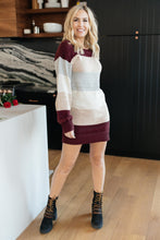 Load image into Gallery viewer, Stay On Track Dress Burgundy