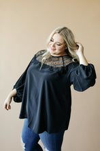 Load image into Gallery viewer, The Queen Blouse in Black
