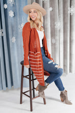 Load image into Gallery viewer, Apiece Striped Cardigan Rust