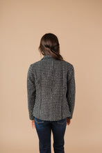 Load image into Gallery viewer, Push Me Away Tweed Blazer Black