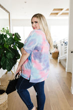 Load image into Gallery viewer, Relaxed Blue & Pink Tie Dye Top