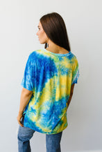 Load image into Gallery viewer, All The Feels Yellow & Blue Tie Dye Top