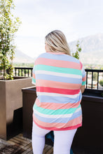 Load image into Gallery viewer, Core Concepts Coral Stripe Top