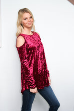 Load image into Gallery viewer, Cold Shoulder Blouse Ruby
