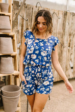 Load image into Gallery viewer, Ruffle Cap Romper with Pockets