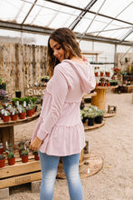 Load image into Gallery viewer, Ruffled Hoodie In Blush