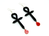 Ankh Blood Earrings