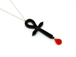 Ankh Blood Drop Necklace
