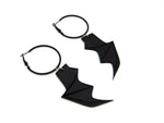 Bat Wing Hoop Earrings