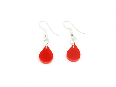 Blood Drop Earrings