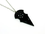 Crow Skull Pentagram Necklace