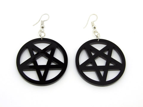 Inverted Pentagram Earrings