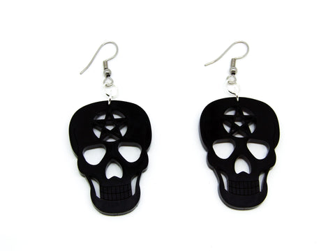 Skull Pentagram Earrings
