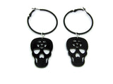 Skull Pentagram Hoop Earrings