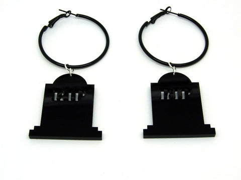 Tombstone Hoop Earrings