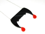 Vampire Teeth Blood Drop Necklace