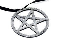 Load image into Gallery viewer, Gothic Christmas Ornaments - Glitter Pentagram