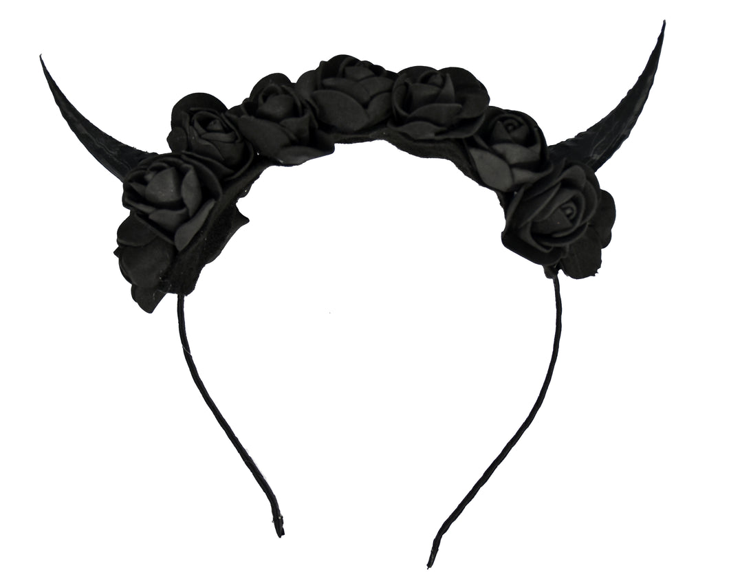 Black Demon Horns Headband