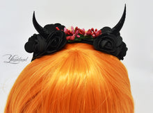 Load image into Gallery viewer, Demon Horns Headband - floral