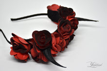 Load image into Gallery viewer, Demon Horns Headband - black & red