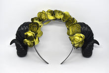 Load image into Gallery viewer, Demon Ram Horns Headband - dark yellow