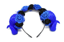 Load image into Gallery viewer, Ram Horns Headband - blue
