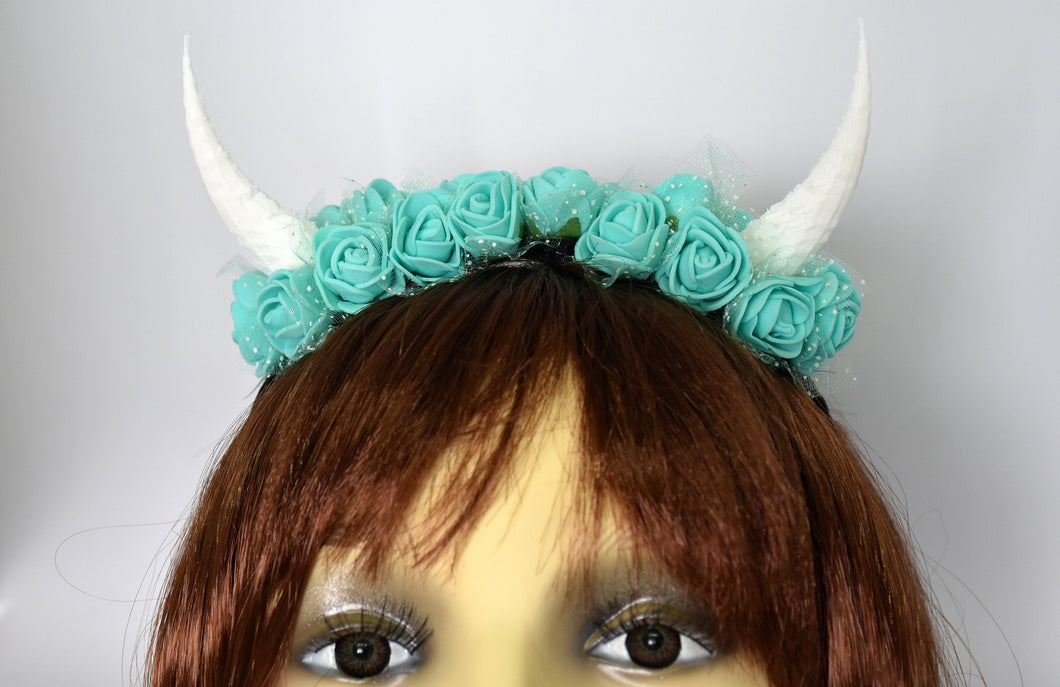 Demon Horns Headband - teal