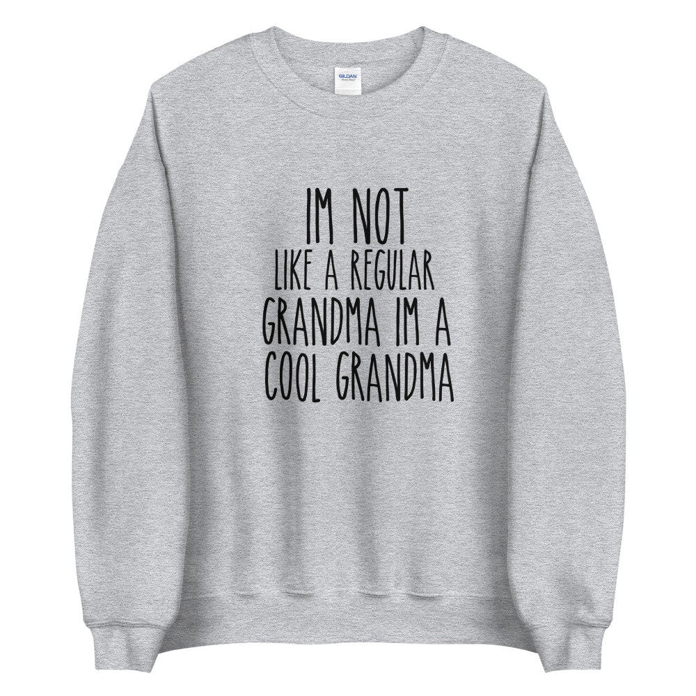 Details about  /Not Retired Full Time Grandma Gray Humorous Sweatshirt Gift Ideas