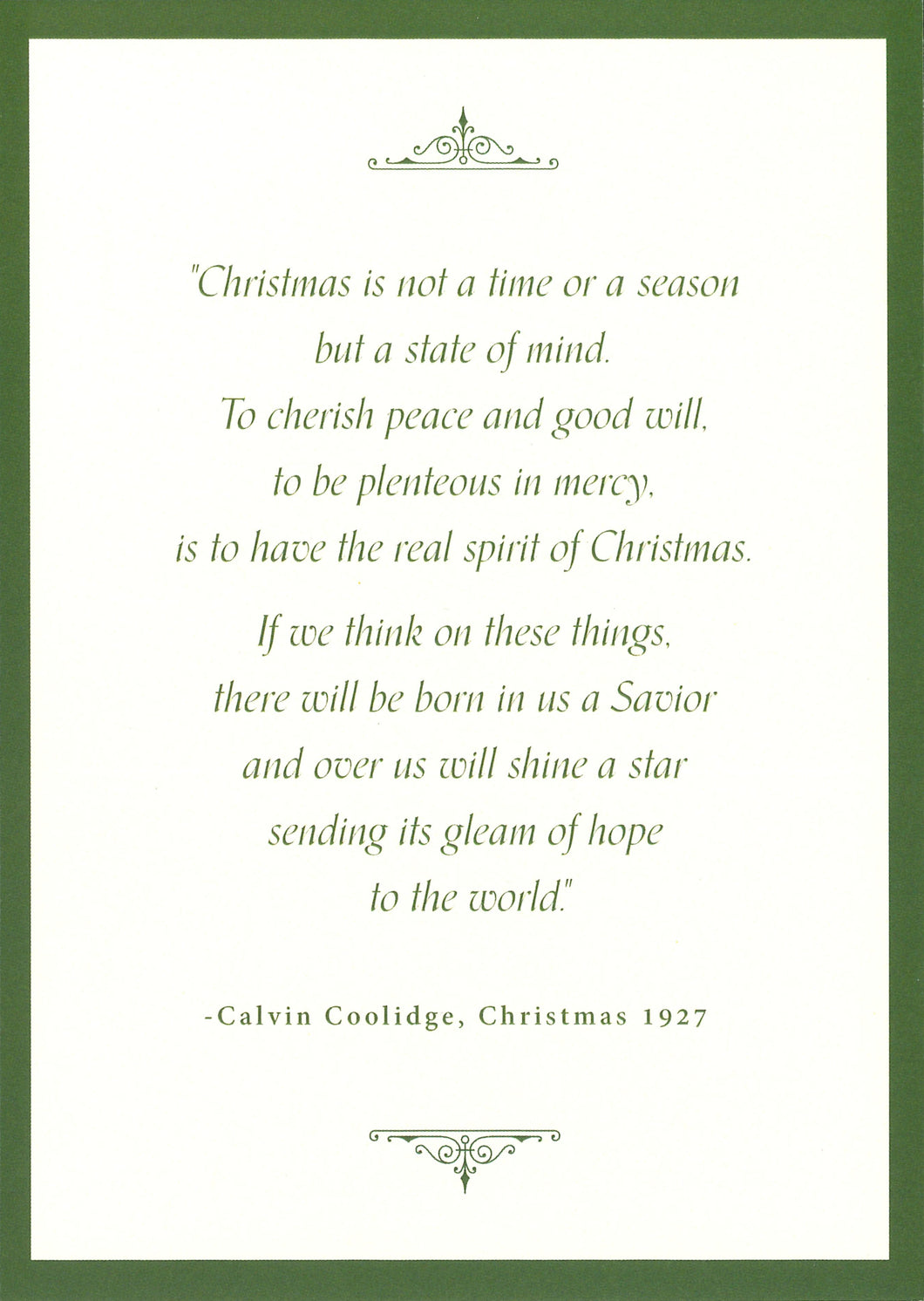Coolidge 1927 Christmas Message Cards (8 count)