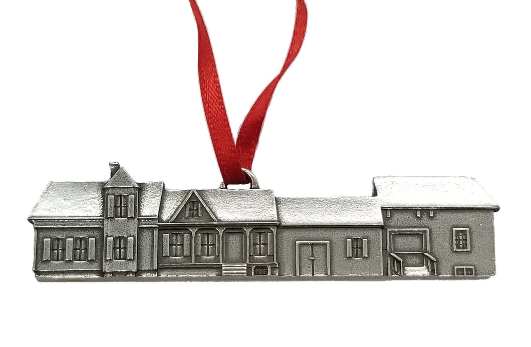 Coolidge Homestead Pewter Christmas Ornament