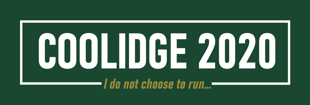 Coolidge 2020 Sticker