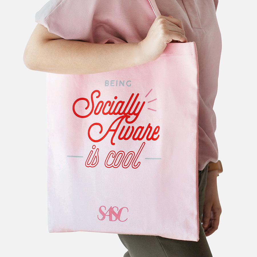 SOCIALLY AWARE TOTE BAG