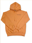 Unisex Blended Living Embroidered Stand Out Hoodie (Peach)