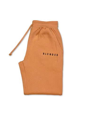 Unisex Blended Living Embroidered Stand Out Joggers (Peach)