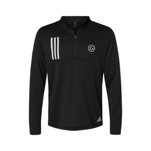 Adidas - 3-Stripes Double Knit Quarter-Zip Pullover