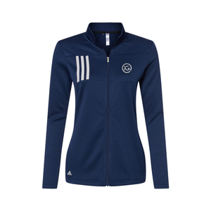 Adidas - Women's 3-Stripes Double Knit Full-Zip