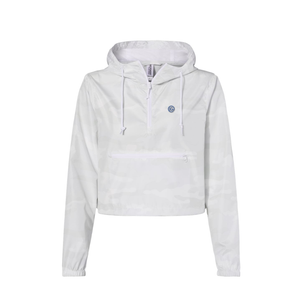 Independent Trading Co. - Women's Lightweight Quarter-Zip Pullover Crop Windbreaker