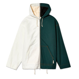 Marni Men's Two Tone Split Hooded Jacket (Green/White)