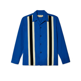 Marni Men's Long Sleeve Stripe Shirt (Blue)