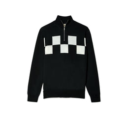 Marni Men's Zip Up High Collar Sweater (Black)