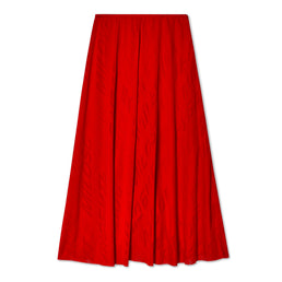 Balenciaga Women's Silk Etched Skirt (Red)