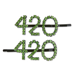 Ashley Williams 420 Hairpins (Green Crystal)
