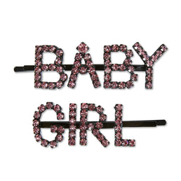 Ashley Williams Baby Girl Hairpins (Pink Crystal)